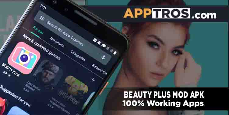 Beauty plus mod apk banner