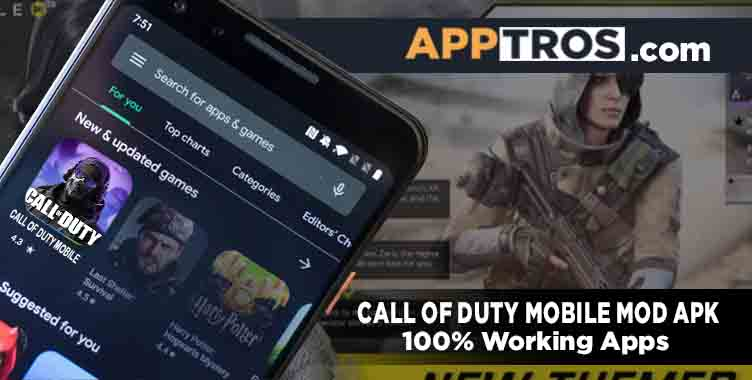 Call of duty mobile mod apk banner