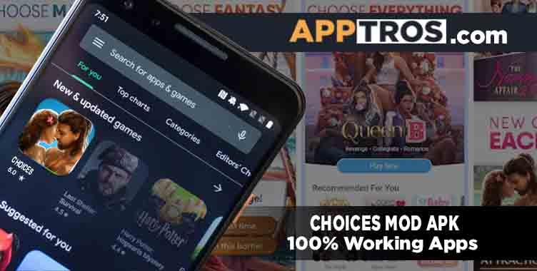 Choices mod apk banner