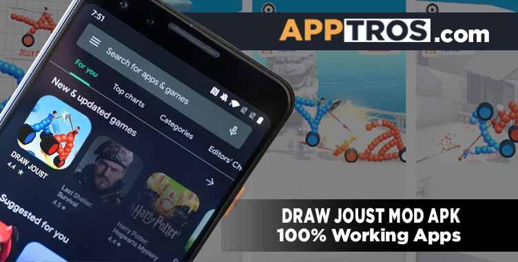 Draw joust mod apk banner