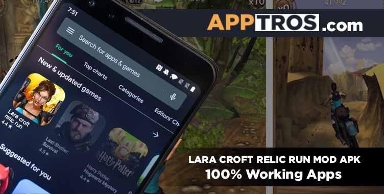 Lara croft relic run mod apk featured image