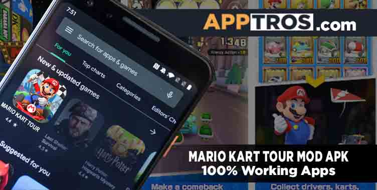 Mario kart tour mod apk featured image banner