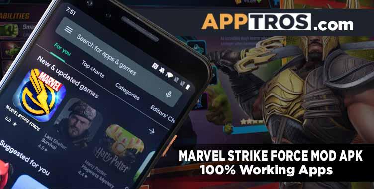 Marvel strike force mod apk banner