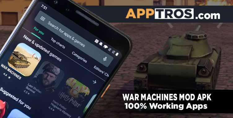 War machines mod apk banner