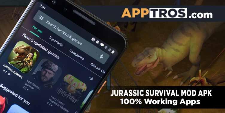 Jurassic survival banner