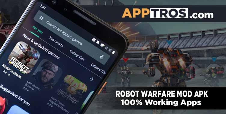 Robot warfare banner